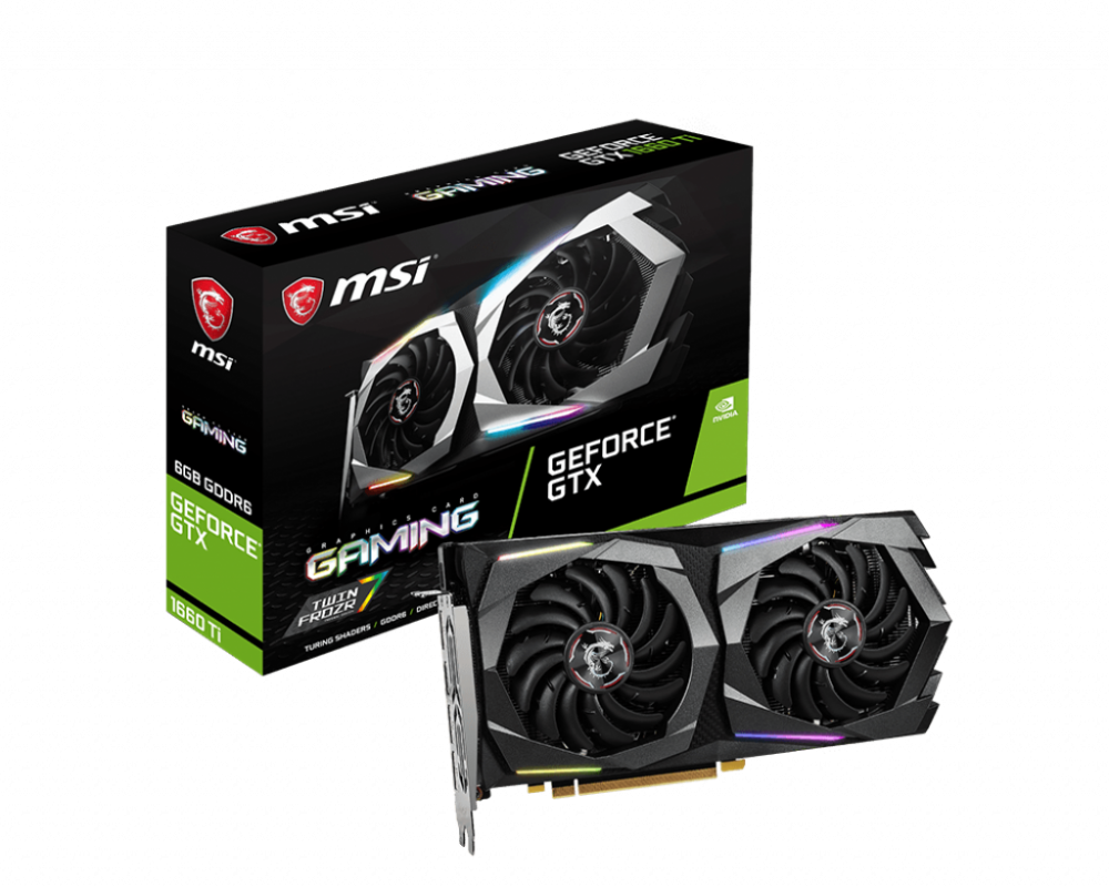 MSI GTX 1660 Ti GAMING X 6G → DIGITAL LED