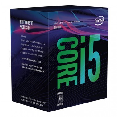CPU Intel Core i5 8400 2.8Ghz Turbo Up to 4Ghz / 9MB / 6 Cores, 6 Threads / Socket 1151 v2 (Coffee Lake